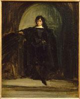 Portrait de l�fartiste dit Portrait de Delacroix en Hamlet