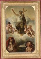 La Vierge du Sacre Coeur - esquisse peinte