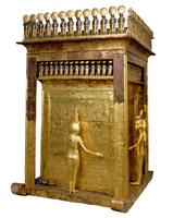 Coffre-chapelle dore aux canopes