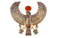 Pectoral en forme de faucon solaire aux ailes deployees 26004020410| 写真素材・ストックフォト・画像・イラスト素材|アマナイメージズ