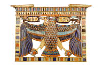 Pectoral orne de la deesse vautour Nekhbet aux ailes eployee