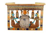 Pectoral au scarabee de Toutankhamon 26004020425| 写真素材・ストックフォト・画像・イラスト素材|アマナイメージズ