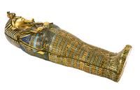 L'un des quatre cercueils miniatures contenant les visceres