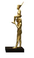 Statuette : Toutankhamon porte par la deesse Menkaret