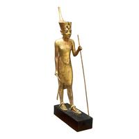 Statuette de Toutankhamon coiffe de la couronne rouge 26004020475| 写真素材・ストックフォト・画像・イラスト素材|アマナイメージズ