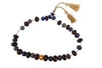 Collier de perles de lapis et obsidienne