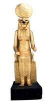 Statue assise de la deesse Sekhmet a tete de lionne