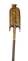 Manche d'eventail portant le cartouche du roi