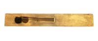 Palette de scribe portant les cartouches de Toutankhamon