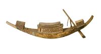 Modele de barque funeraire a cabine centrale