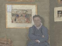 Portrait de Felix Vallotton (1865-1925), dans son atelier