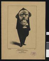 Portrait-charge de Jules Barbey d'Aurevilly