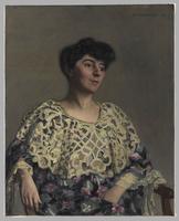 Portrait de Marthe Mellot (1870-1947), actrice, femme de Alf