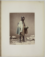 """Views and costumes of Japan"", Personnage en costume d' hiver"