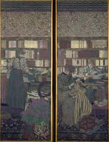 La bibliotheque (Inv2441) et La table de travail (Inv2442)