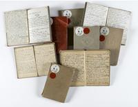 Vu d'une serie de petits carnets de dessin de Vuillard