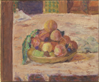 Nature morte : assiette et fruits ou Coupe de peches