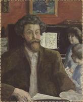 Le Compositeur Claude Terrasse (1867-1923) et ses deux fils, Jean et Charles