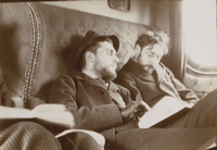 Bonnard et Bibesco dormant dans le train