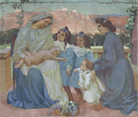 Portrait de Madame de la Laurencie et de ses enfants