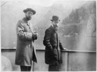 Bonnard et Vuillard sur un bateau sur le lac de Come ou le lac de Garde en Italie