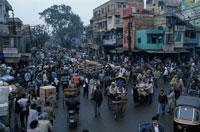 街並み 6月 オールドデリー インド