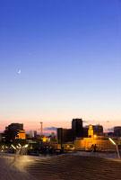 大桟橋より望む横浜三塔