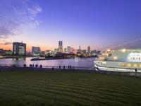 横浜の夕景 26033005283| 写真素材・ストックフォト・画像・イラスト素材|アマナイメージズ