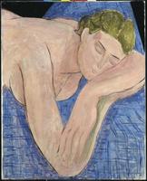 Le Reve (Figure dormant, fond bleu)