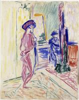 Marquet peignant un nu dans l'atelier de Manguin