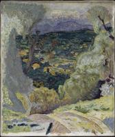 Paysage meridional : Le Cannet ou Paysage de montagnes, decor meridional