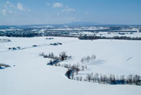 北海道冬の大地 バルーンより望む