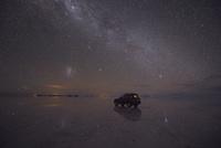 水に映る星と天の川