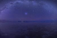 天の川と水に映る星