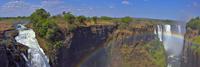 ビクトリアの滝と虹 パノラマ 26082000579| 写真素材・ストックフォト・画像・イラスト素材|アマナイメージズ
