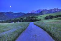 トワイライトの高原の道