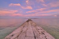トライライトと旧桟橋 26082000599| 写真素材・ストックフォト・画像・イラスト素材|アマナイメージズ