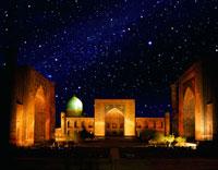 星空のレギスタン広場 26092010825| 写真素材・ストックフォト・画像・イラスト素材|アマナイメージズ