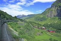 フロム山岳鉄道と車窓からの風景