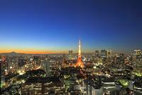 世界貿易センタービルから見る東京タワーの夜景