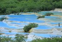 黄龍の五彩池