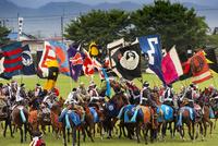 相馬野馬追祭りにての神旗争奪戦風景