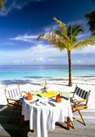 アリ環礁のミリヒアイランドリゾートのレストラン