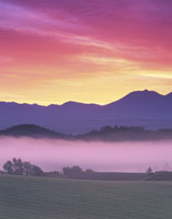 十勝岳連峰朝の大地