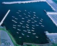 珸瑤瑁(ごようまい)漁港の漁船