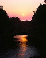 赤亀岩の朝