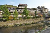 大谷山荘と音信川