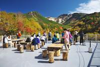 十勝岳温泉の紅葉と展望台