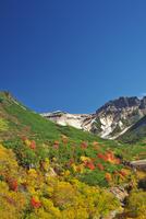 十勝岳温泉の紅葉とカミホロカメットク山