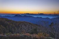 しらびそ高原より望む中央アルプスの夕景